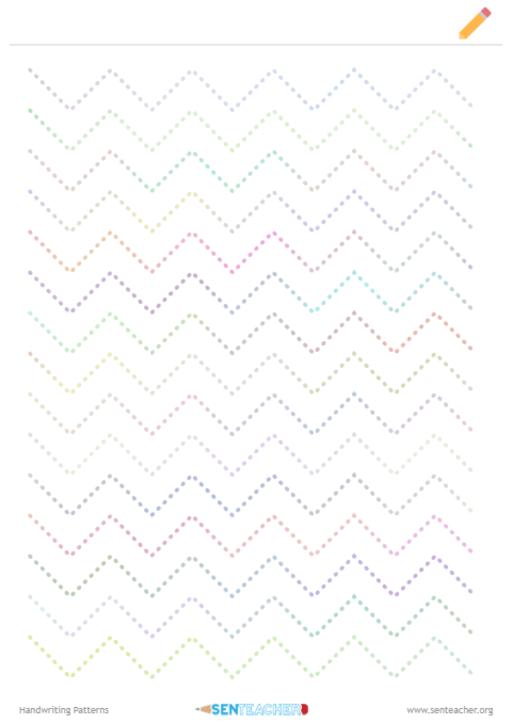 SEN Teacher ⋆ Handwriting Patterns ⋆ Printable Worksheet