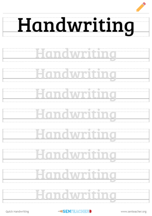 Place holder for Handwriting