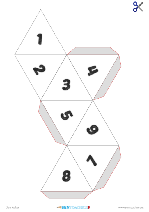 picture relating to Dice Printable titled SEN Trainer ⋆ Cube Company ⋆ Printable Sport Cube
