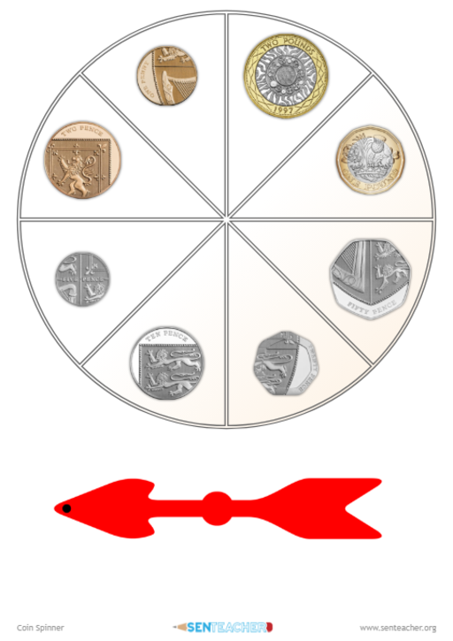 photograph regarding Printable Spinner named SEN Instructor ⋆ Cash Spinner ⋆ Printable Recreation Spinner