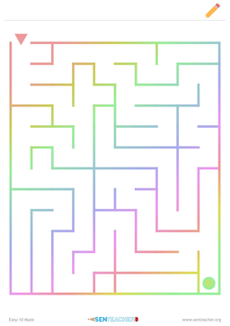 graphic about Vale Design Free Printable Maze named SEN Instructor ⋆ Arithmetic Printables
