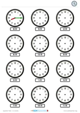 picture regarding Printable Clocks called SEN Instructor ⋆ Clocks - Bingo Producer ⋆ Printable Activity