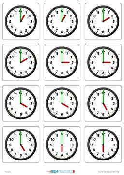 Sen teacher popular printables clocks card pairs create clock ibookread Download