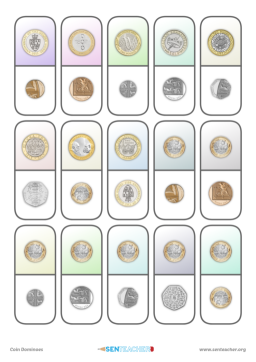 photo about Coins Printable identify SEN Instructor ⋆ Cash Spinner ⋆ Printable Video game Spinner