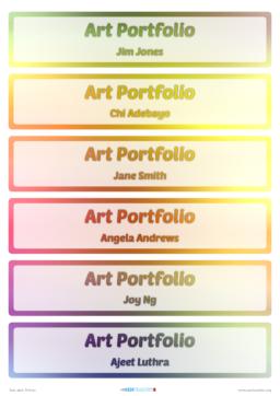 SEN Teacher ⋆ Image Name Labels ⋆ Printable Classroom Labels